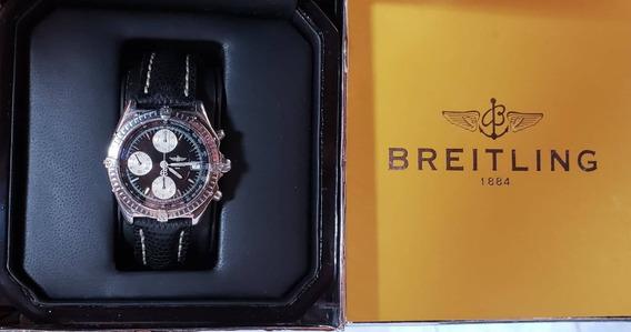 Breitling Chronomat Aço , Pulseira Couro, Perfeito !