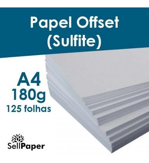 Papel Offset (sulfite) 180g E 240g Com 125 Folhas Cada A4