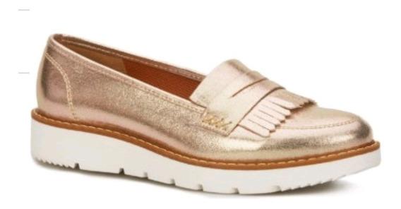 Zapatos Flat Andrea Loafer Metalizada 2482644