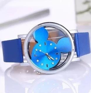 Relógio Feminino Mouse Azul - Quartzo