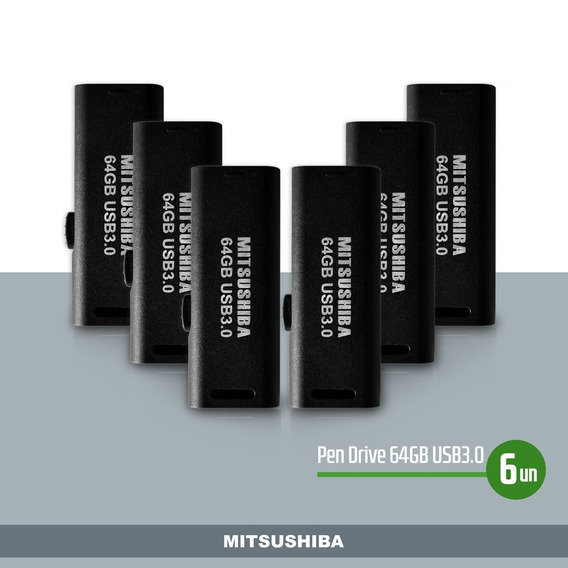 Kit Pen Drive 64gb(usb 3.0) 6pcs Mitsushiba