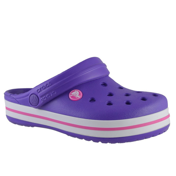 Crocs Crocband Niños Lila Blanco