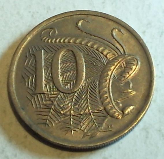 Australia - Moneda De 10 Cents. - Año: 1970