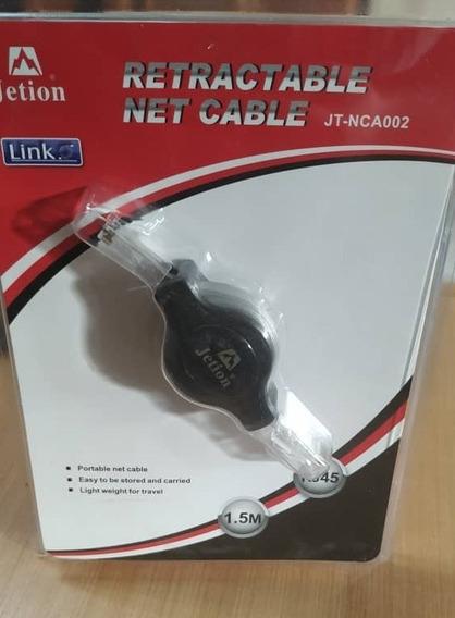 Cable De Red Jetion Rj45 De 1.5mts Retractil Mod: Jt-nca002