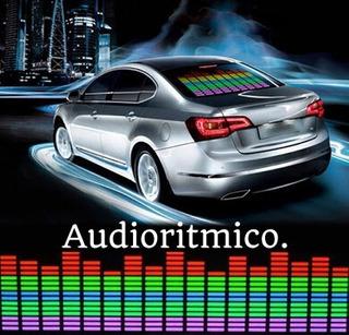 Sticker Ecualizador Led Audio Rítmico Auto Tuning 45x11cm