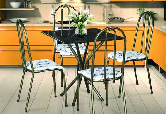 Mesa Com 4 Cadeiras Bianca