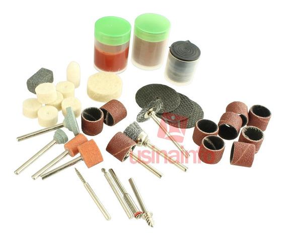 Kit Acessórios Para Micro Retífica /cortar, Esculpir E Polir