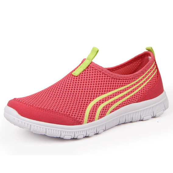 Zapatos De Mujer De Verano 2019 Moda Luz Caliente Malla Tran