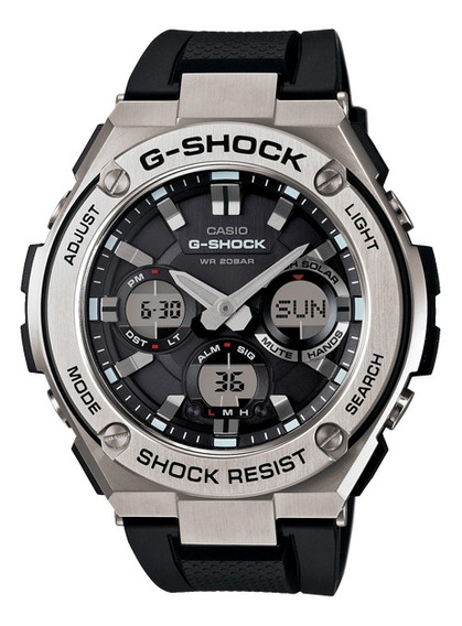 Relógio Casio G-shock Masculino Anadigi Solar Gst-s110-1adr