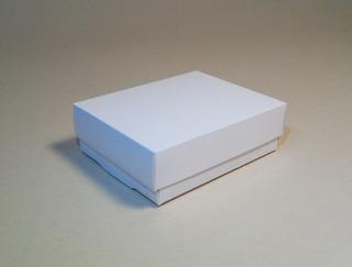 Cajas Cartón Cartulina Blanca Con Tapa T347 (11x9x3,5) X100u