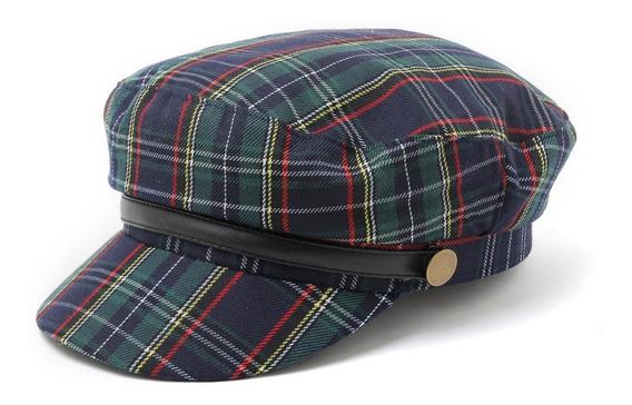 Boina Sombrero Mujer Escocés Kilt