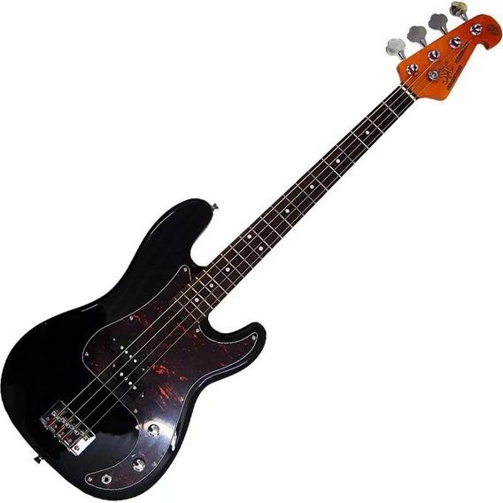 Contra Baixo Sx 4 Cordas Precision Bass Spb62 Preto C/ Bag