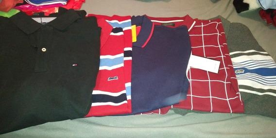 5 Camisas Tipo Polo Tommy Hilfinger Zara Club Room Ecko Xl