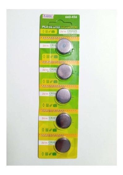 Paquete De 5 Pz Pila Bateria Boton 3v Cr2025 - T2006