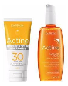 Actine Kit Protetor Solar E Sabonete Liquido 240 Ml Antiacne