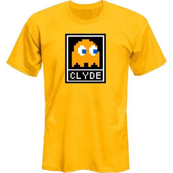 Remeras Pacman Fantasmas Clyde Retro *mr Korneforos*