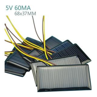 Mini Placa Solar 5,5 V 50ma Xy 68 X 37 Mm