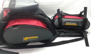 Bolso Tanque Moto Mochila 18l Ridercraft T Std Rojo & Cart.