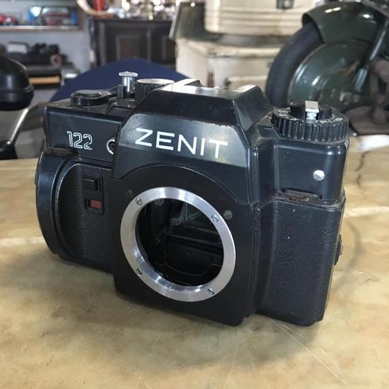 Câmera Fotográfica Antiga Zenit 122 Corpo Ñ Nikon 1491