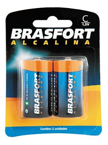Pilha Alcalina Brasfort Gde D C/2