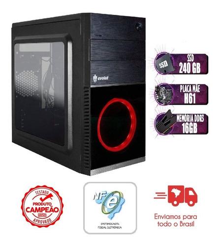Imagem 1 de 4 de Pc Computador Intel I5 16gb Memoria 240gb Ssd Fonte 500w
