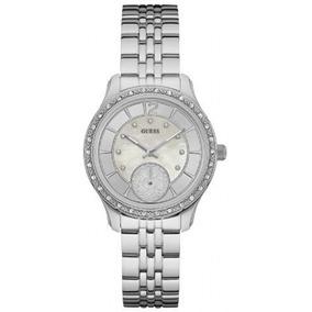 Relógio Feminino Guess 92634l0gdna1 Analógico Prateado
