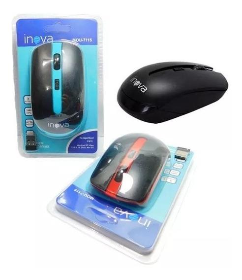 Mouse Optico S/ Fio Wireless Usb 2400dpi (mou-7115)
