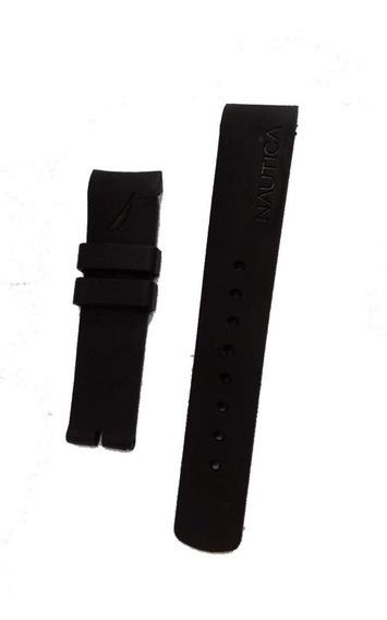 Pulseira Para Relógio Nautica Preta N14536g E Outros Modelo