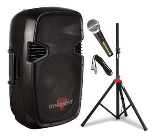Combo Karaoke Bafle Bluetooth Microfono Tripode Usb Fm