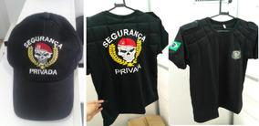 Camiseta Acolchoada + Boné Bordado Segurança Privada