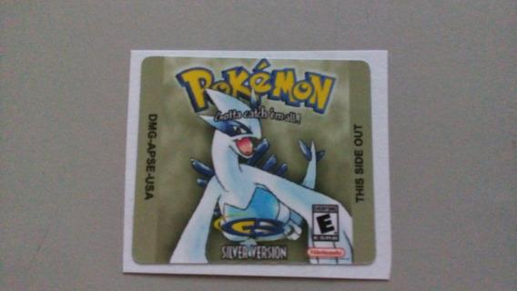 Label Pokémon Silver Para Game Boy