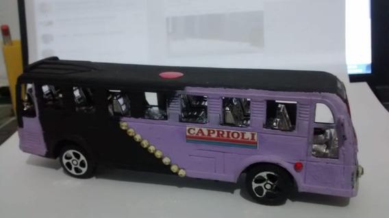 Miniatura De Onibus Viação Caprioli 14 Cm *ler Descrição