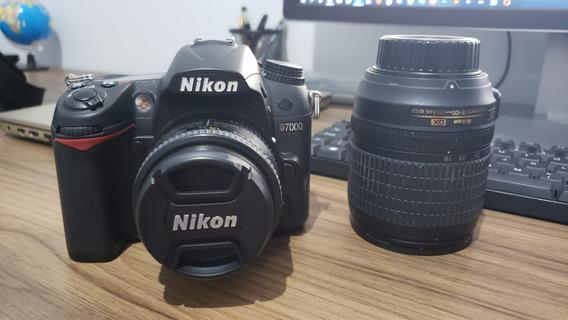 Câmera Nikon D7000 + Lente 18-105 E Lente 50mm