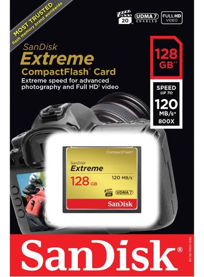 Memória Sandisk Extreme Cf Compact Flash De 128gb Original