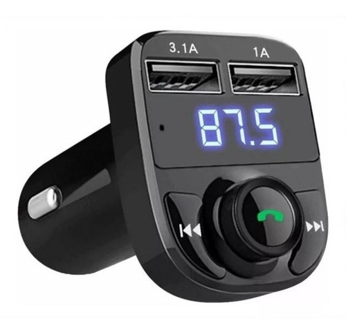Transmisor Fm Bluetooth Cargador Doble Usb Manos Libres