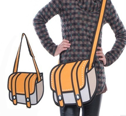 Bolso Morral Diseño 2d 3d Cartoon Shoulder Bag Importada 01