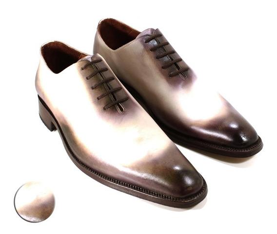 Zapato Hombre Oxford Cuero Diseño Francesco By Ghilardi