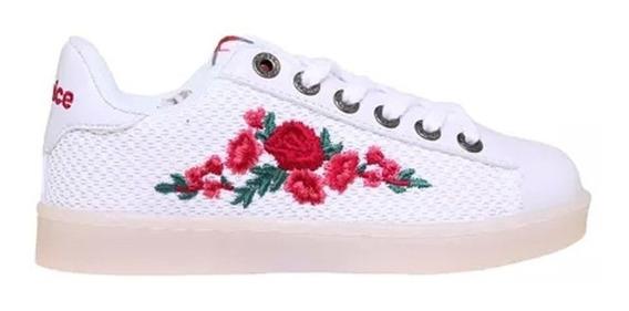 Zapatillas Niña Addnice Led Rosas Ju Cbl