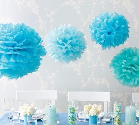 Pompones De Papel De Seda - Flores De 25 Cm X50