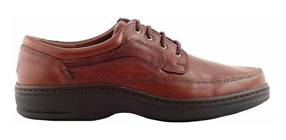 Zapato Cuero Hombre Briganti Acordonado Negro - Hcac00966