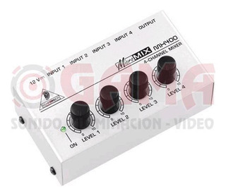 Consola Sonido Behringer Micromix Mx400 4 Canales De Linea 3