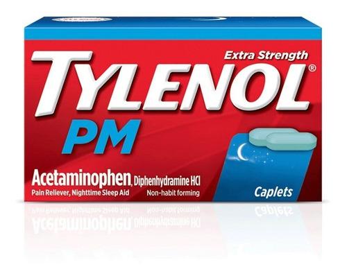 Imagen 1 de 2 de Tylenol Pm 500mg Soporte Sueño 25mg 150 Caps Alivia Dolor