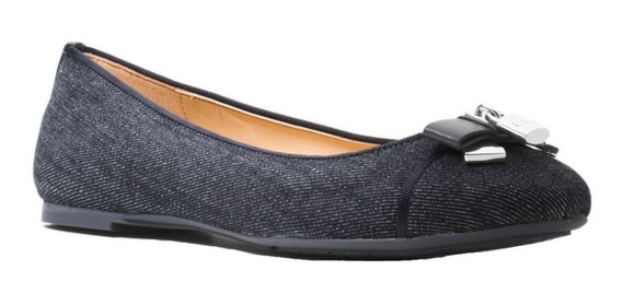 Zapatos Flats Michael Kors Alice Denim Ballet Originales