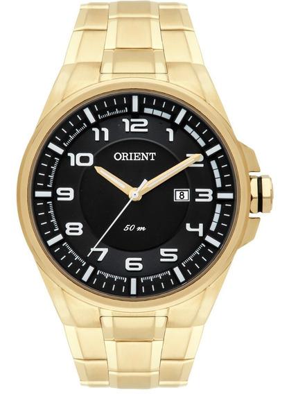 Relógio Orient Mgss1125 Dourado Masculino Original Quartz