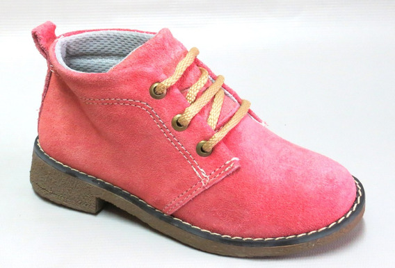Zapatos Botita Gamuza Cordon Korek Art 1000