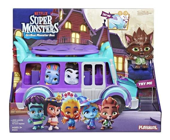 Super Monstros Em Ação - Ônibus Monstrinhos Playskool Hasbro