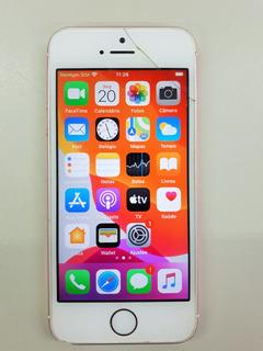 iPhone Se 128gb Ouro Rosa Usado