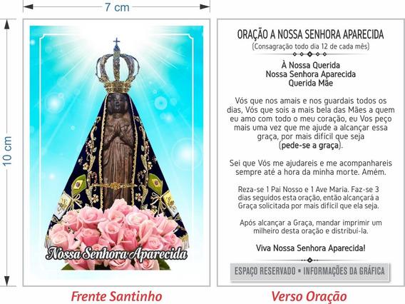 Santinho Nossa Senhora Aparecida (milheiro Oração)