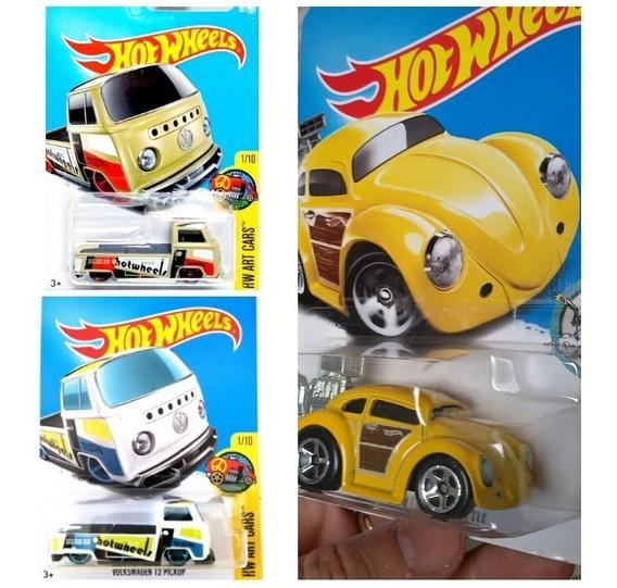 Lote Vw - Kombis+fusca - 1/64 - Hot Wheels