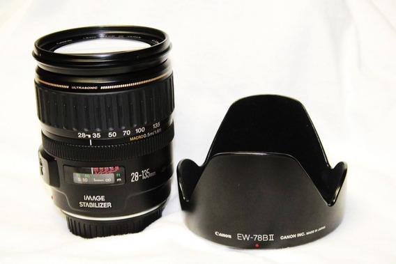 Lente Canon Ef 28-135mm F/3.5-5.6 Is Usm, Con Visera Origina
